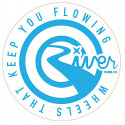 River Round stickers